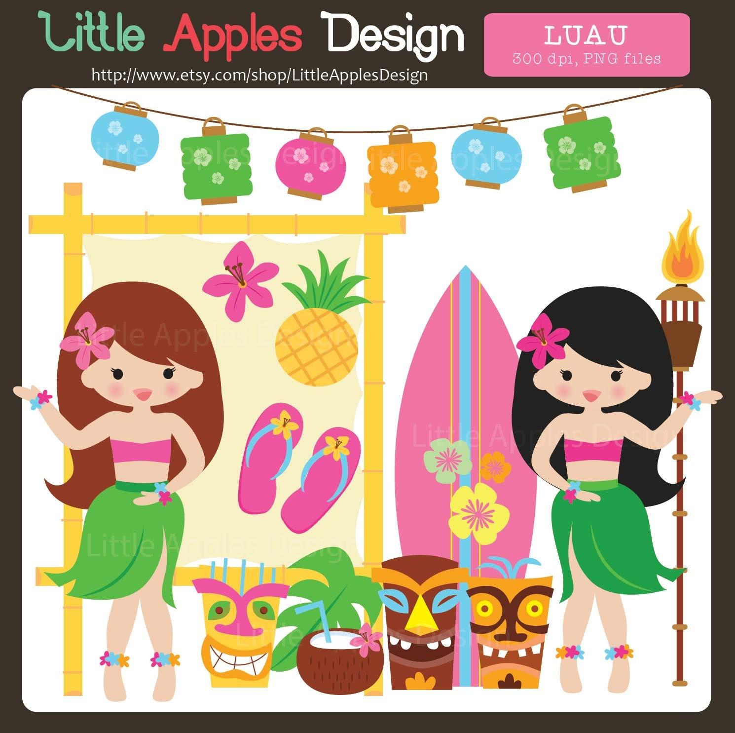 Hawaiian Luau Girl Clip Art