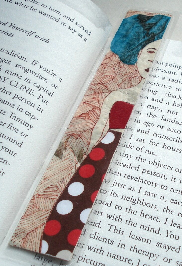 Illustrated Handmade Bookmark