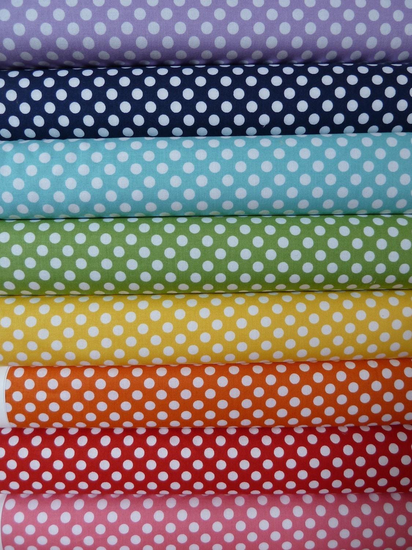 1/2 yard Bundle Riley Blake Small Dots - Complete Line