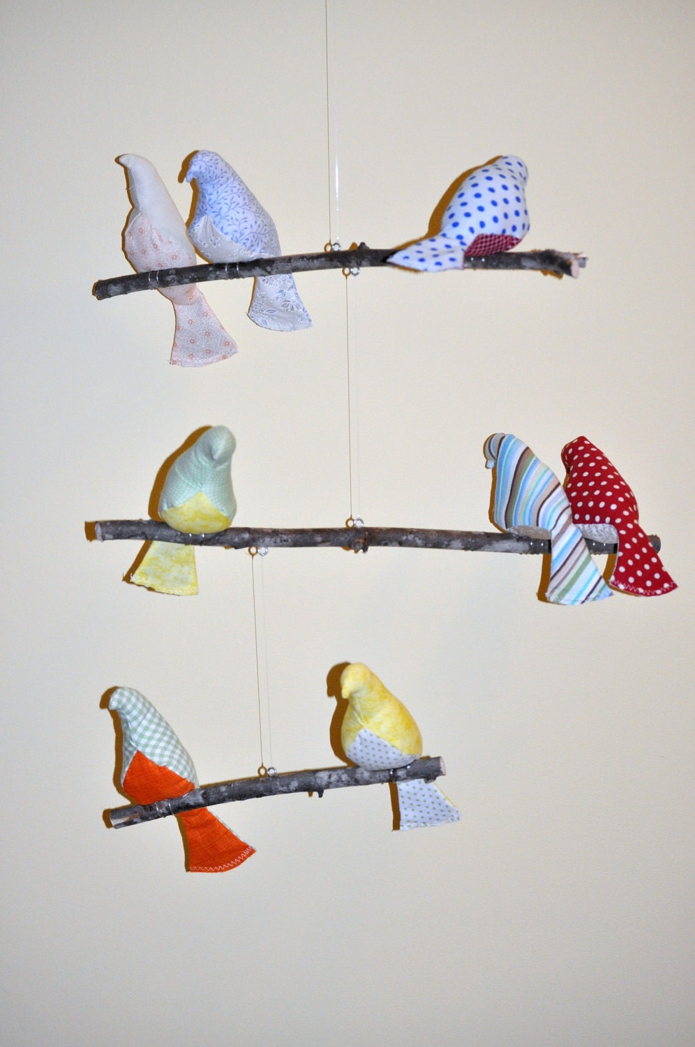 3 Tiered Bird Mobile for Nursery