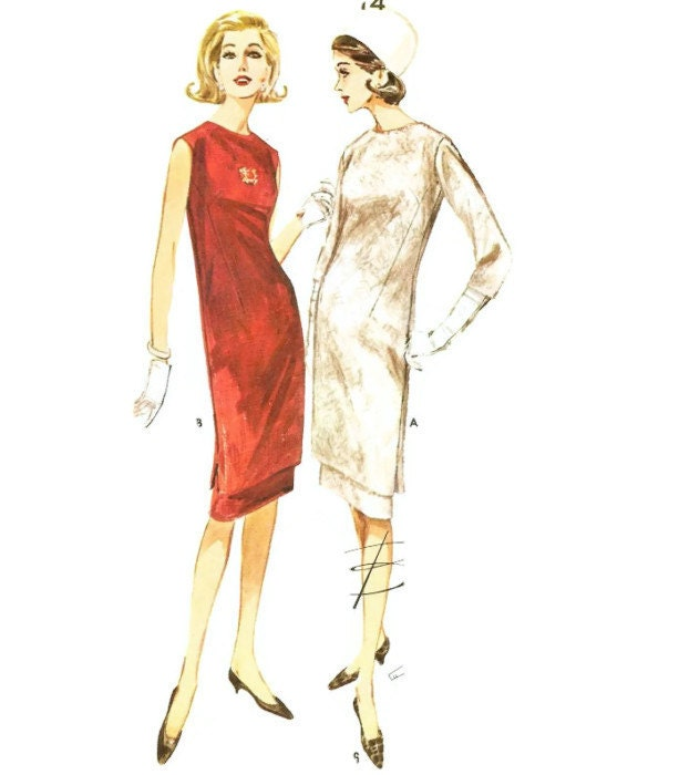 Schnittmuster Kleid Vintage 50er Jahre Simplicity