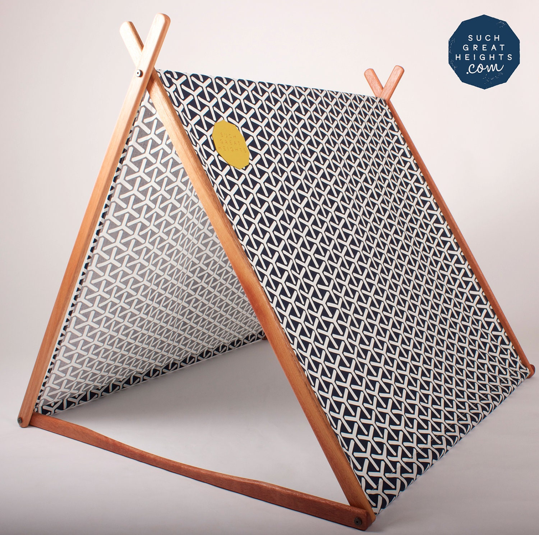 Navy Geometric 'Wonder Tent' (Organic Cotton Canvas) - sghstore
