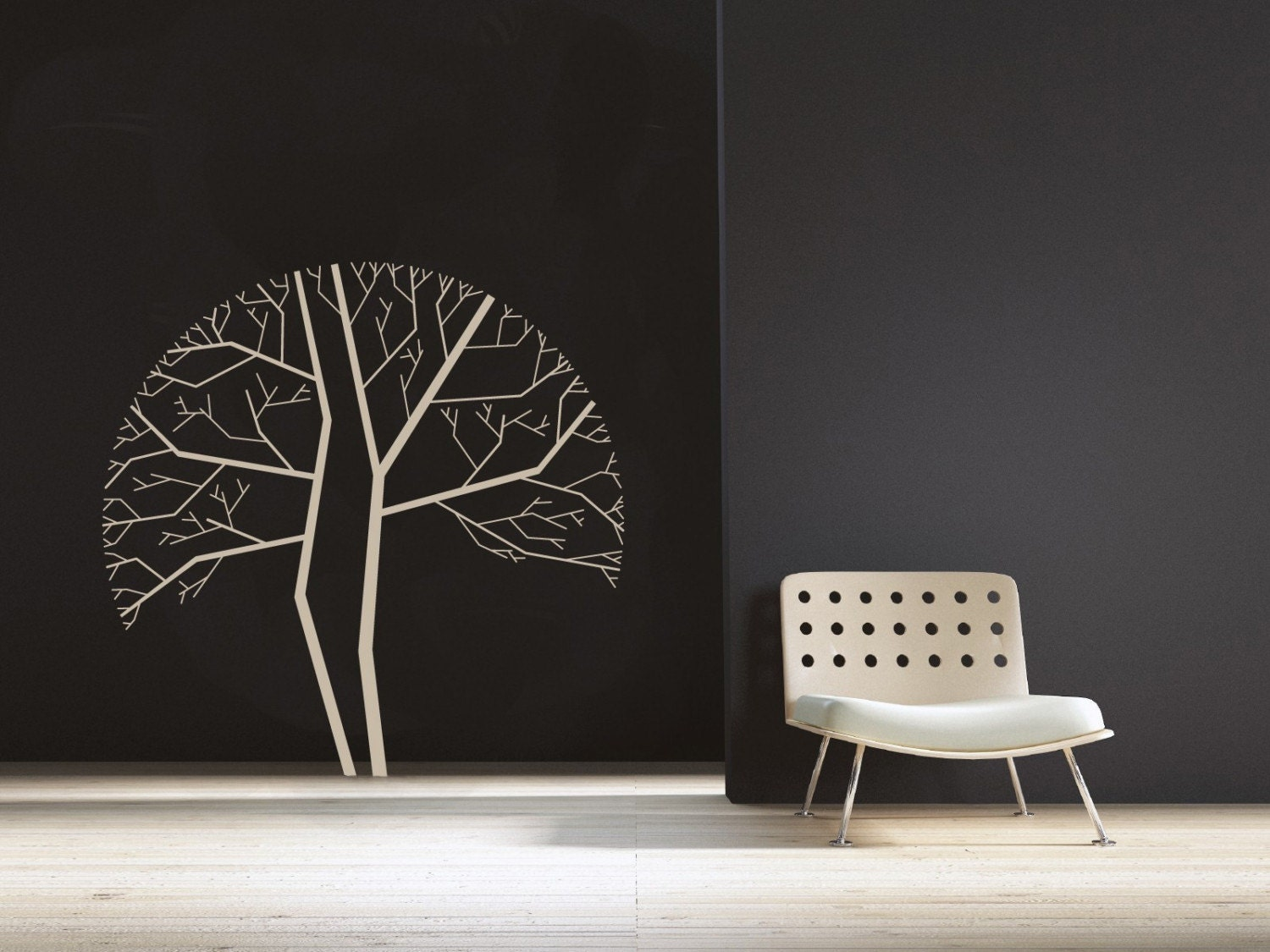 Modern Tree Design -- LARGE WALL DECAL -- Easy Installation