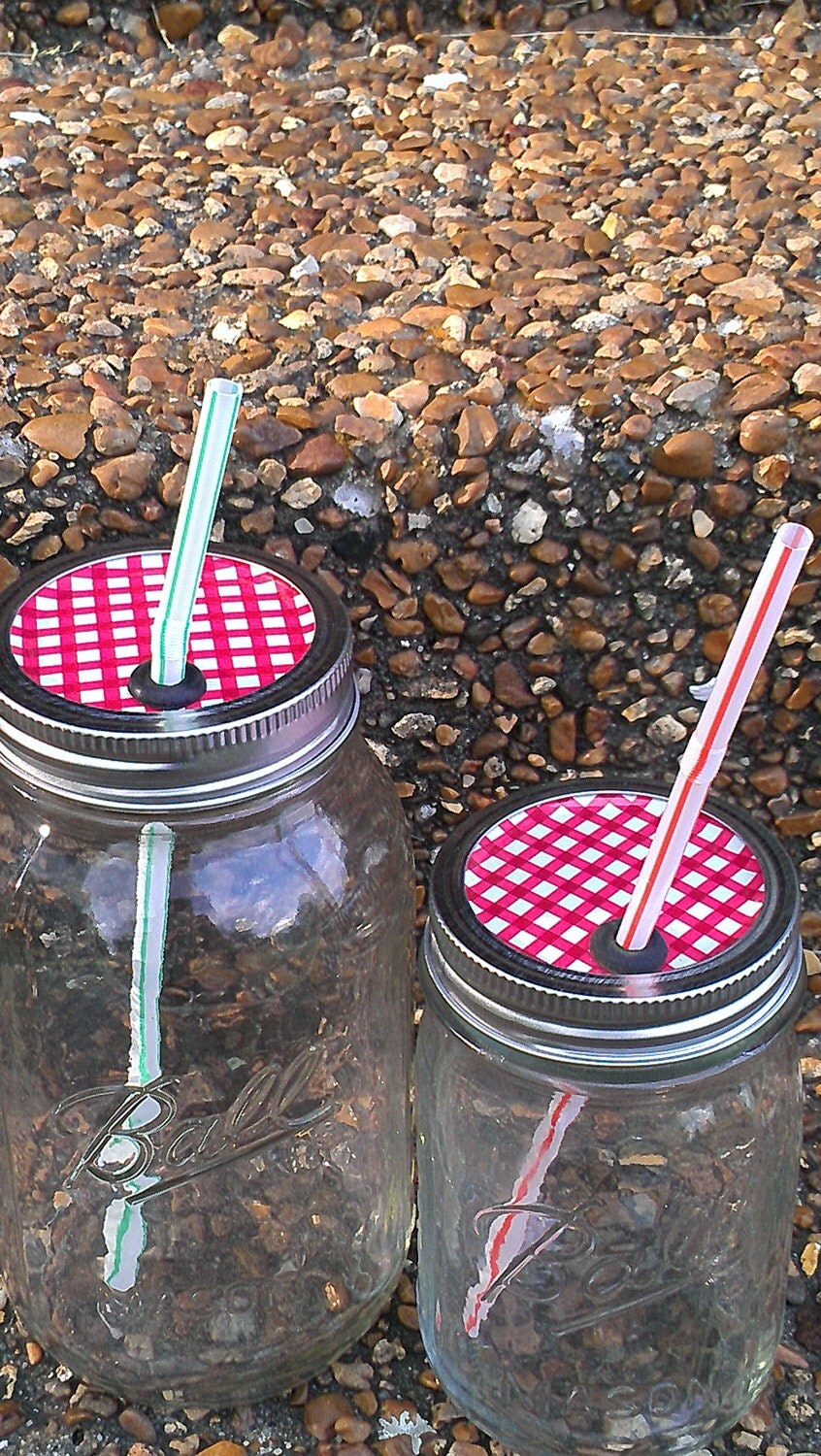 Mason Jar Party Drink Lids Great for Picnics - Thetulipgrove