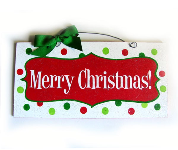 Merry Christmas sign. Happy Holidays option. - DiamondDustDesigns