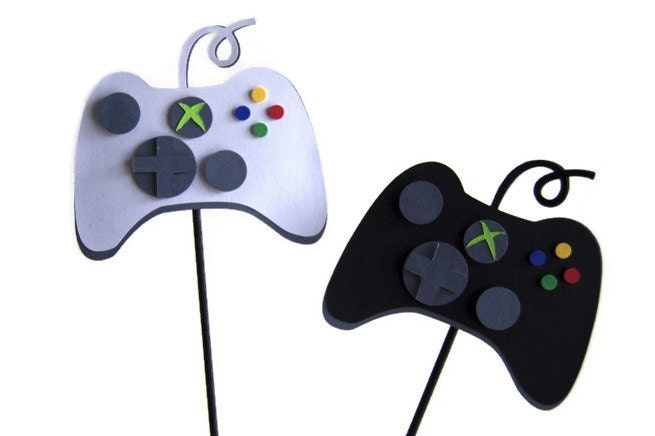 Xbox Cake Toppers, Party Decorations, Centerpieces, Scrapbook, Shadowbox