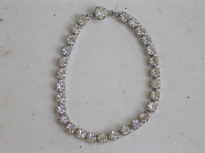 Sparkling Rhinestone 80s Bracelet