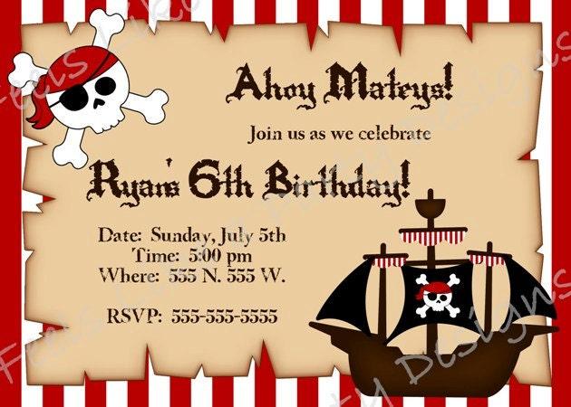 Pirate birthday party invitations templates - photo#15