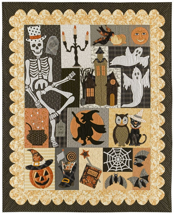 Happy Hauntings Applique Quilt 12 Pattern By