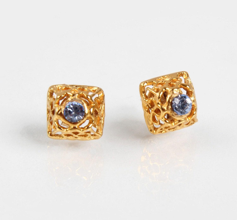 Gold filled Stud Earrings of Eden