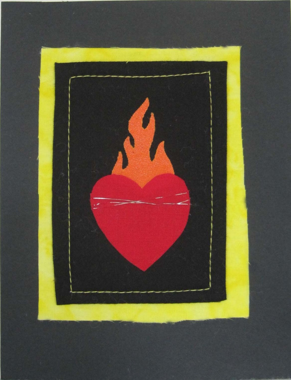 Valentine's Day - Flaming Heart Card