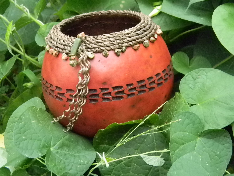 Чип-резные тыквы миску с Seagrass Рим