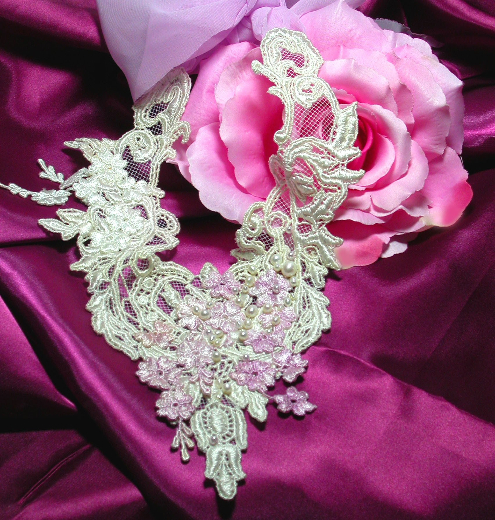 Handmade Weddings on Etsy - The Whisper of Love Wedding Necklace by tatteredrouge from etsy.com