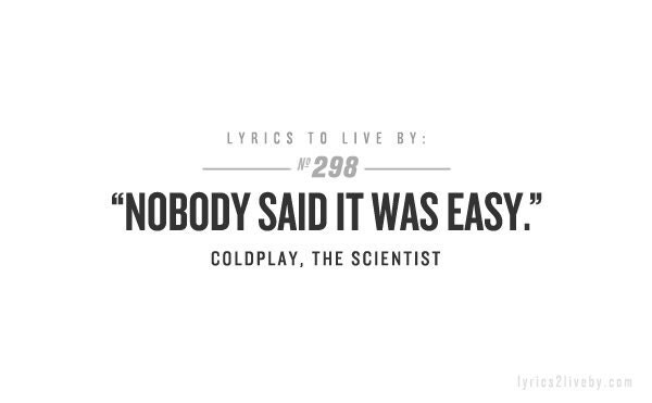 coldplay lyric the scientist