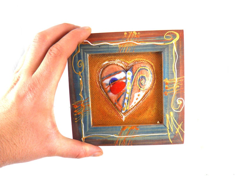 Ceramic heart ornament , Wall Ceramic Hearth, Valentines ornaments, Valentines ornaments, Handmade ceramic ornament - 99heads