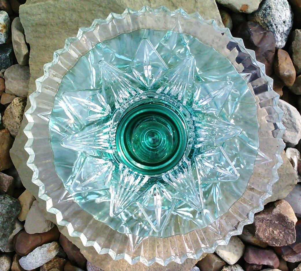 Recycled glass flower sun catcher garden art by theglasslotus - Recycled glass garden art ...