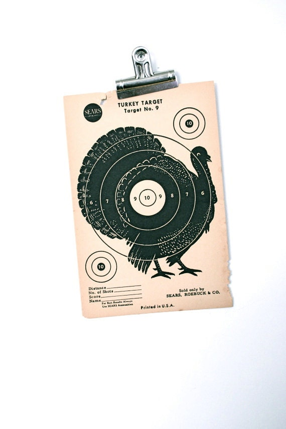 Thanksgiving Decorations Target : Items similar to thanksgiving turkey decor vintage