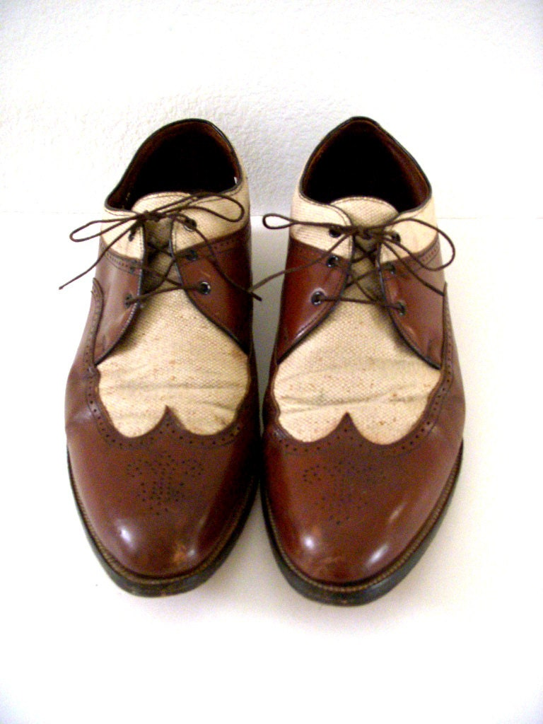 vintage s two tone wingtip shoes mens 60s by