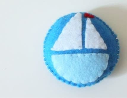 Emery Sand Filled Pincushion  Nautical  Keep Your by NAKPUNAR from etsy.com