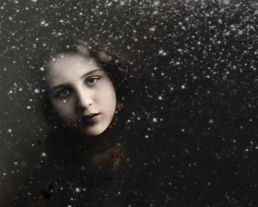 girl winter snow photograph - dcandrews