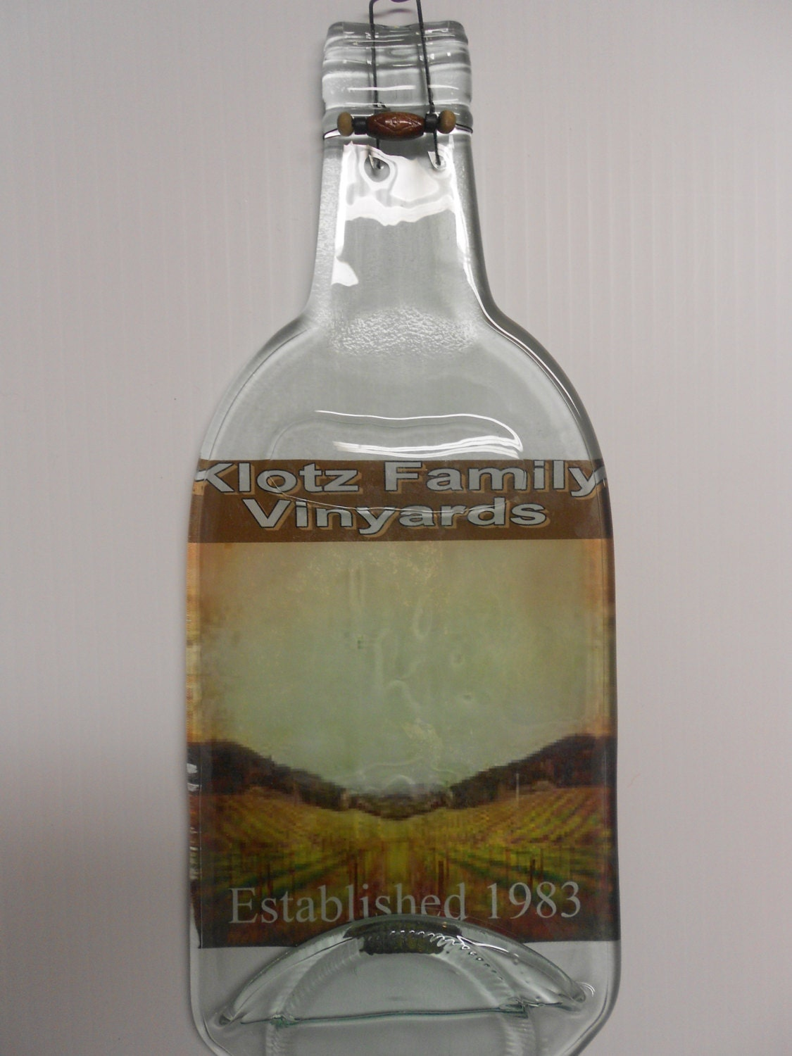 Items similar to Wedding gift / Personalized melted wine bottle cheese ...