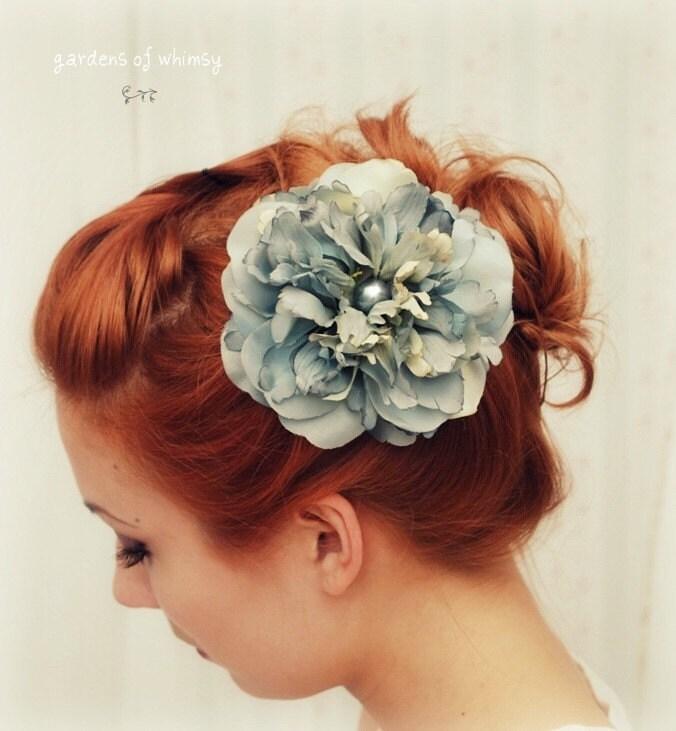 Blue danube - a pretty pale blue hair clip