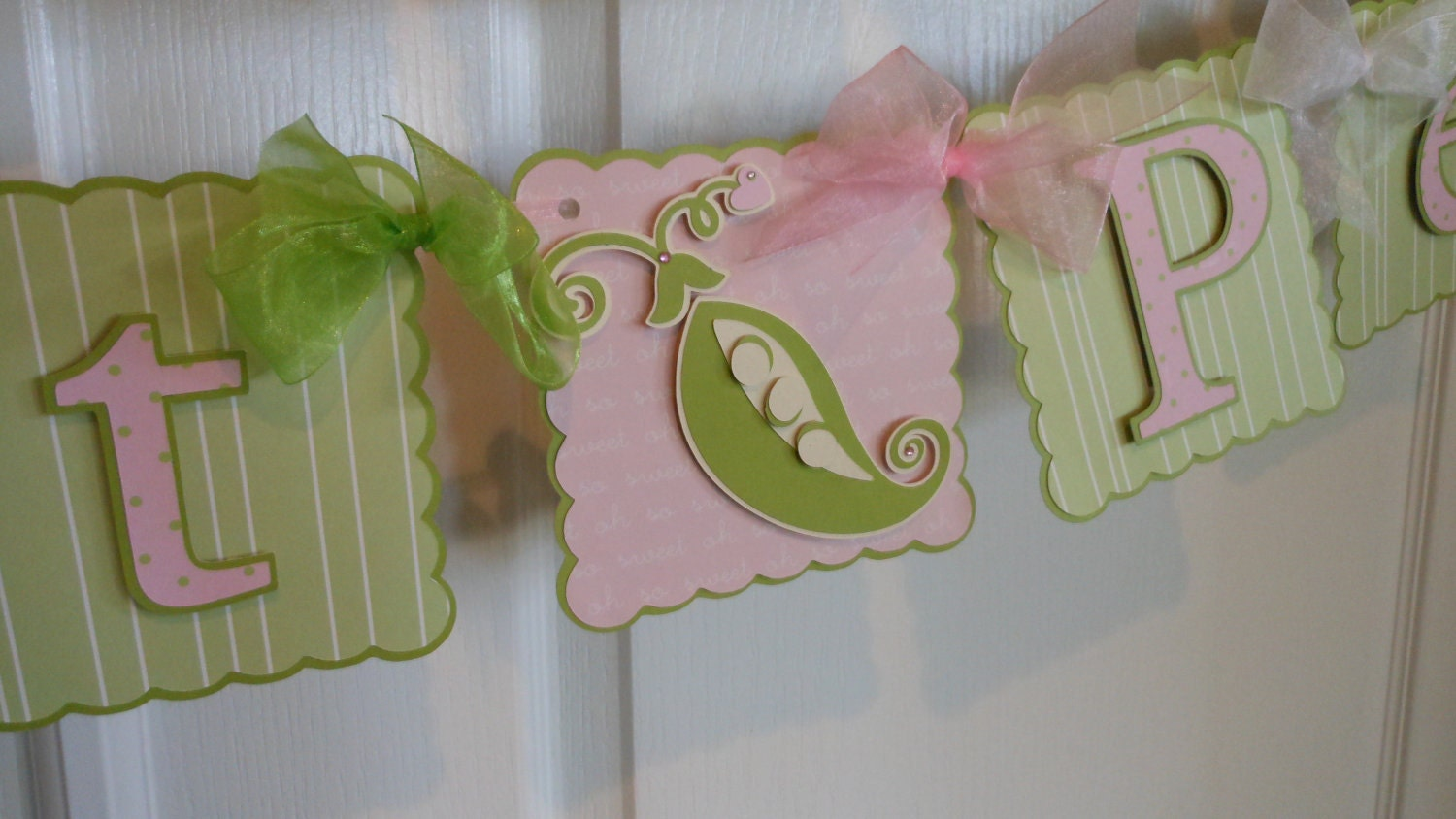 sweet pea baby shower banner by asweetcelebration on etsy