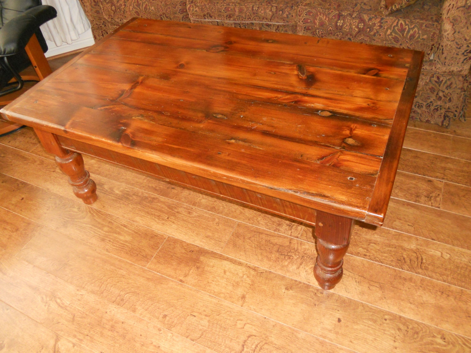 Reclaimed barn wood coffee table 48 x 30 x 19 by for Coffee table 48 x 30