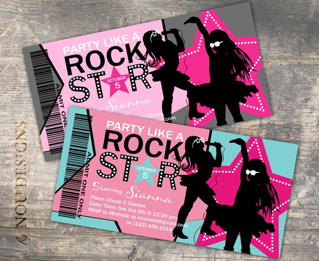 Similiar Like A Rock Star Birthday Party Invitations Keywords – Rockstar Party Invites