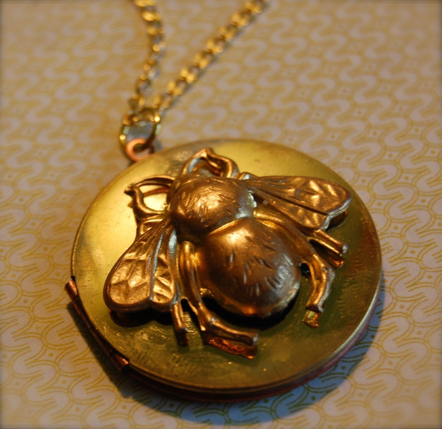 The Bumblebee Locket - Vintage