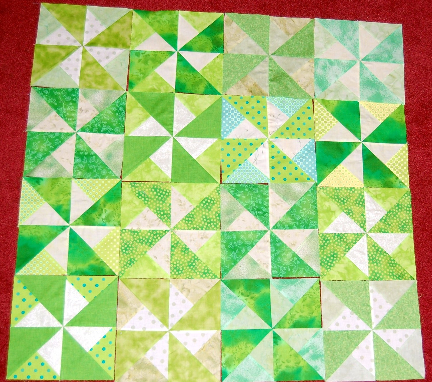 Pinwheel Quilt Block Template : Items similar to Quilt Blocks 8 inch Pinwheel Pattern 16 READY TO SHIP on Etsy