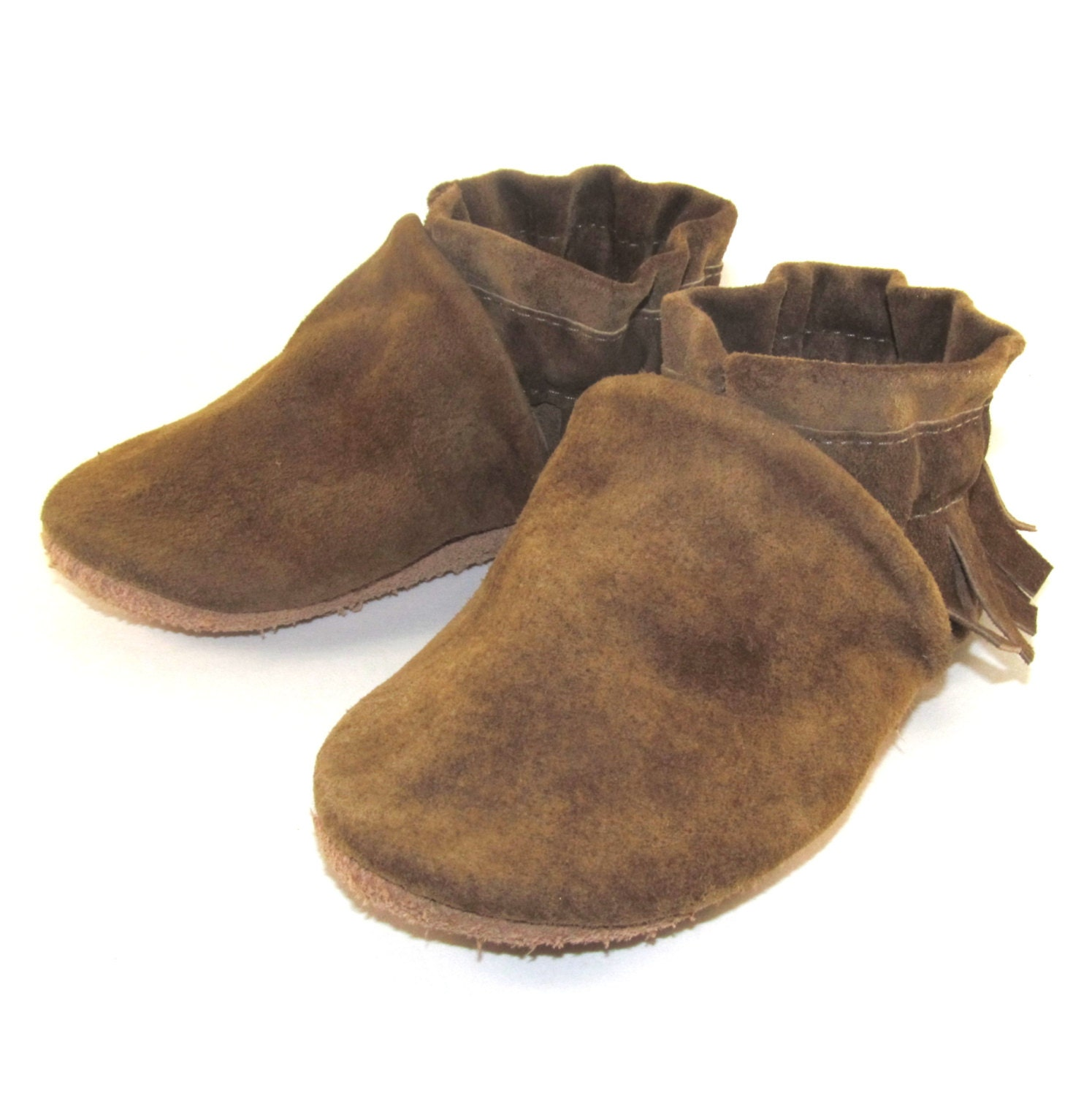 Leather Baby Shoes Moccasins Soft Sole Eco Friendly 6 by