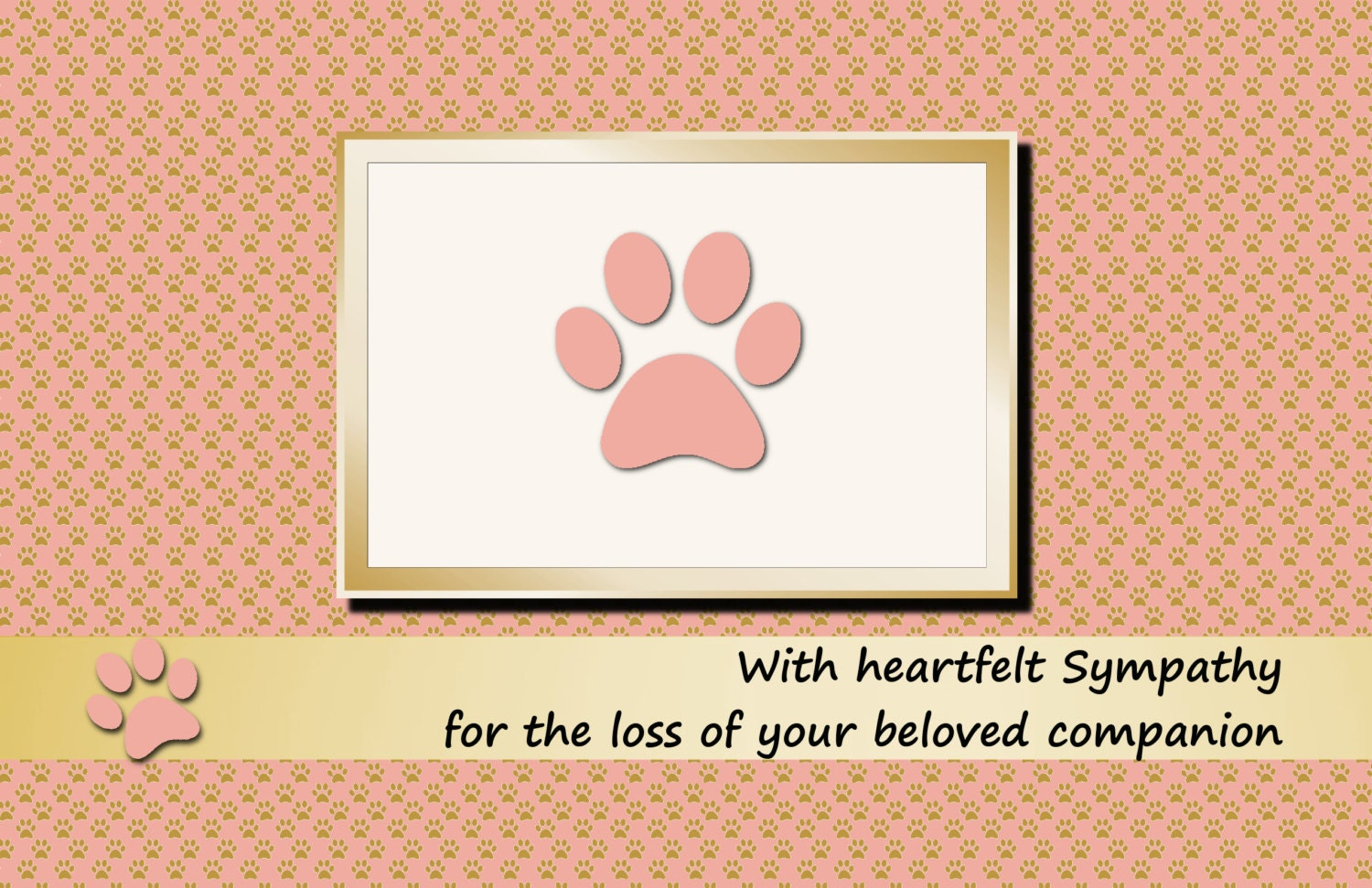 It is an image of Lively Free Printable Pet Sympathy Cards