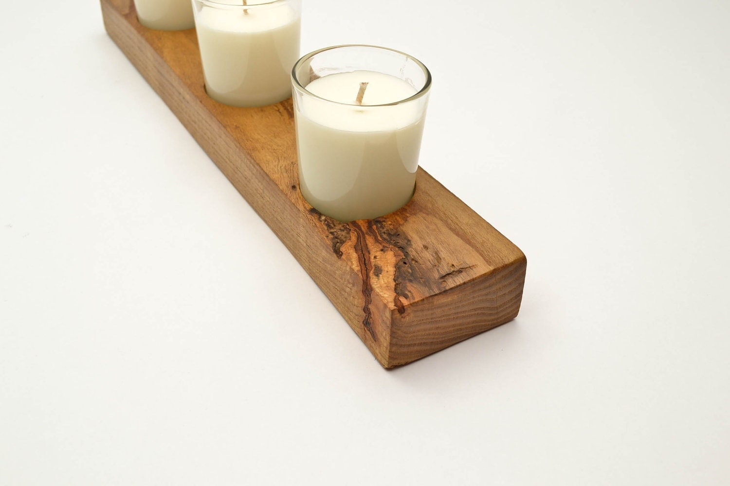 Wooden Candle Base White Soy Candles Hand Made Sassafras