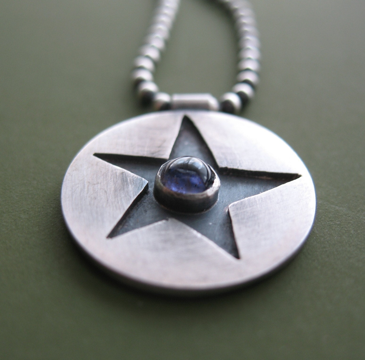 Star Pendant with Iolite