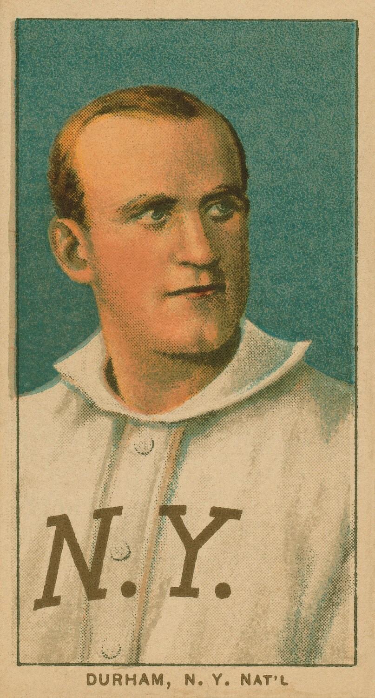 Bull Durham - Baseball Card Print - New York Giants - 13.5 x 8 inch Print Vintage 1909 - OffTheHookInMyNook