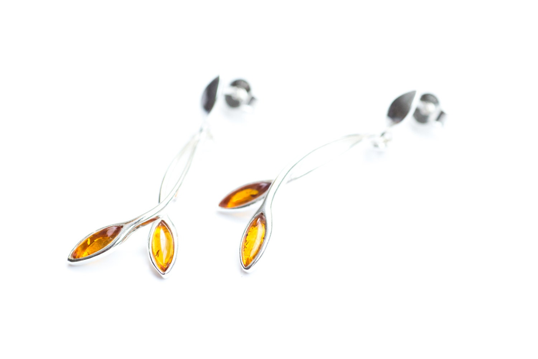 Amber Earrings Baltic Amber Earrings Amber Jewellery Baltic Amber Gemstone Earrings Long Earrings Dangle Earrings Real Amber Golden