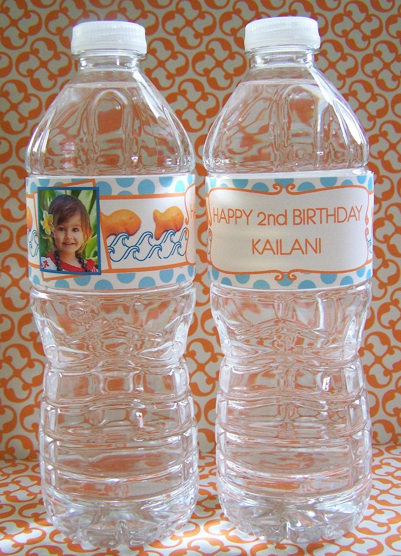Custom Waterproof Water/Soda Bottle Labels