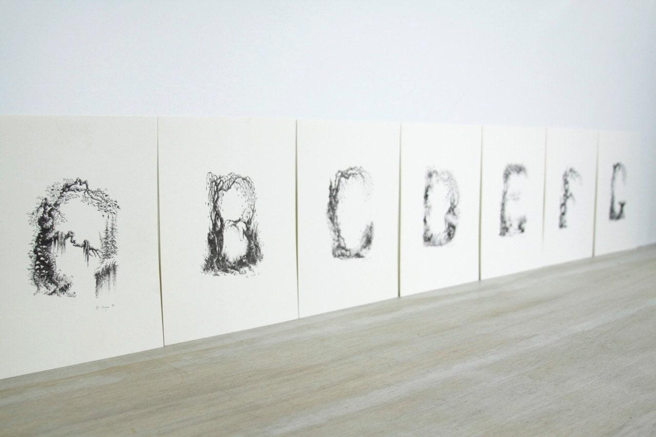 ABC Nature Prints