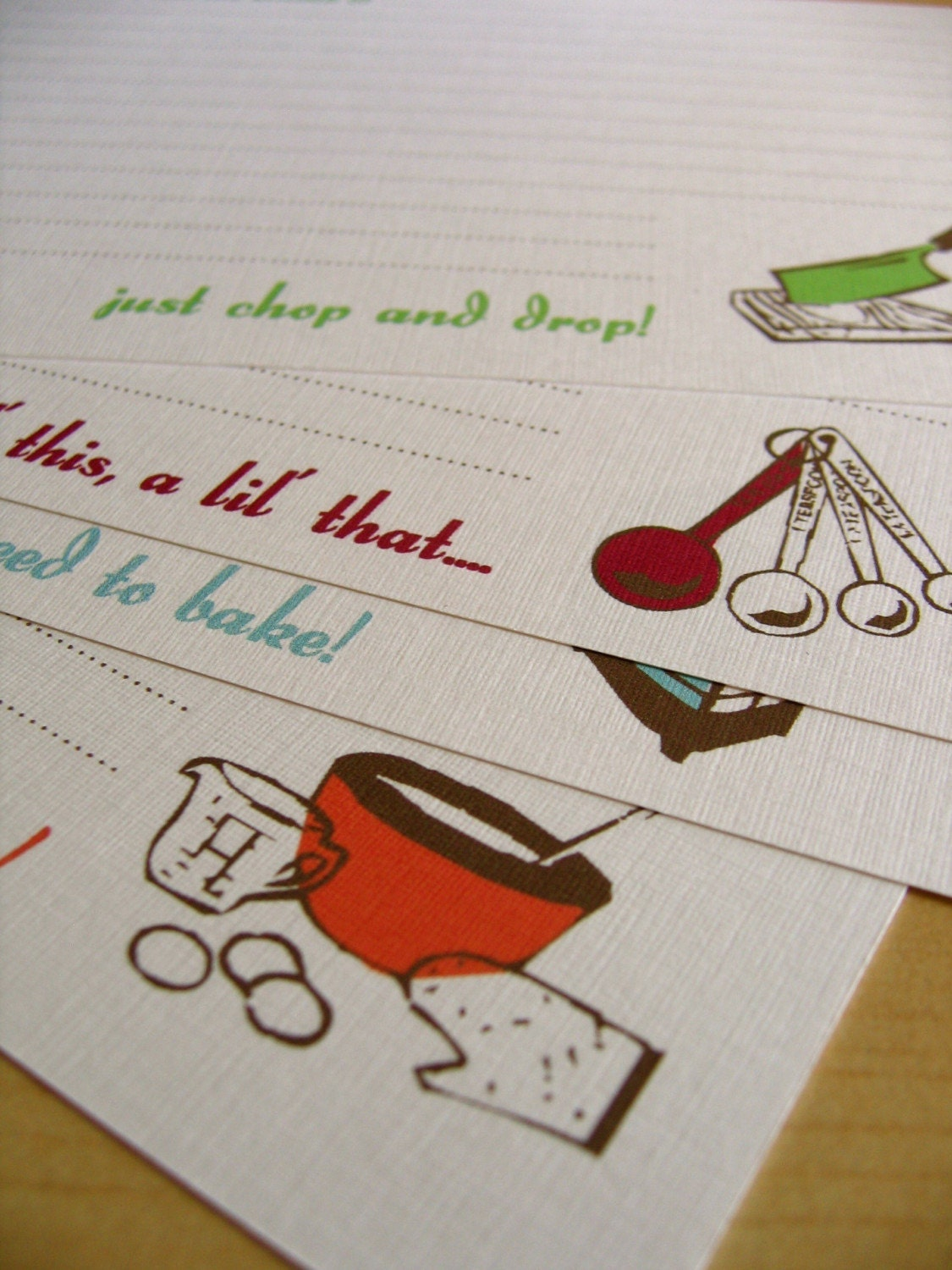 The Bakers recipe card- Set of 12