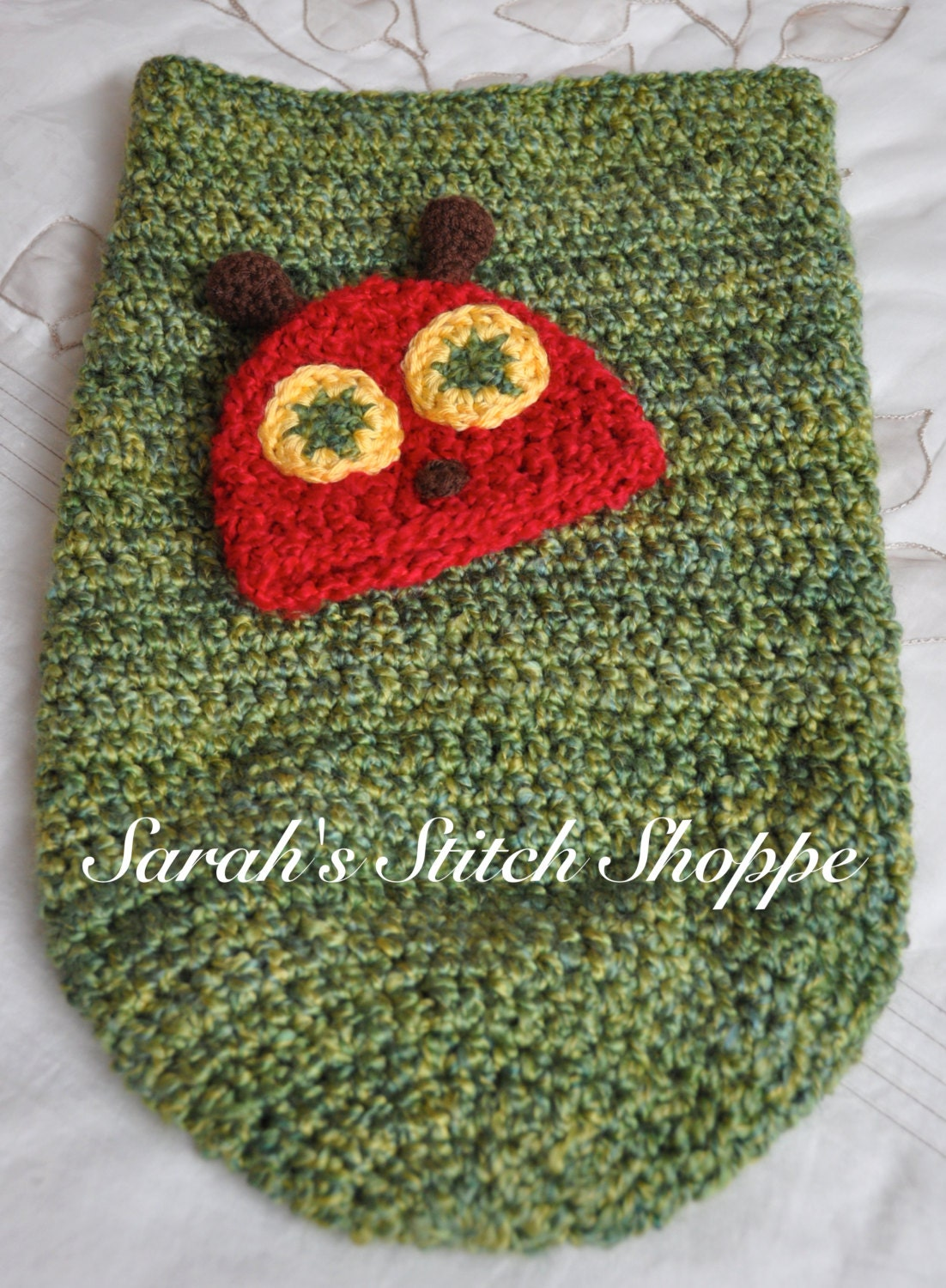 Very Hungry Caterpillar Cocoon and Hat by SarahsStitchShoppe
