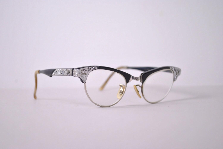 1950s vintage art craft aluminum gold filled eyeglasses for Art craft eyeglasses vintage