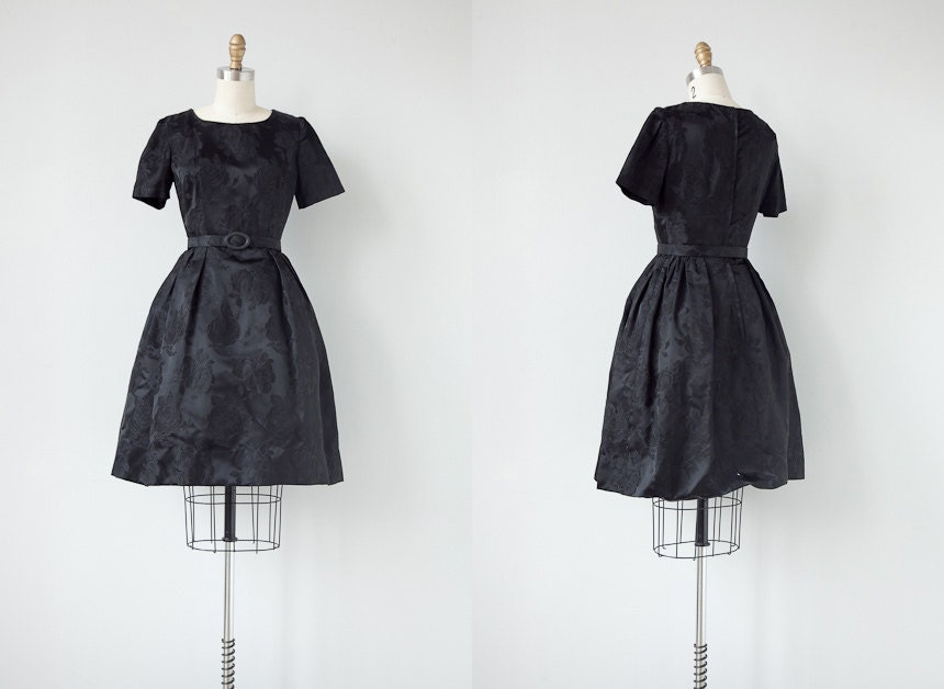 vintage 1960s dress / 1960s black dress / vintage 60s formal dress / cocktail dress