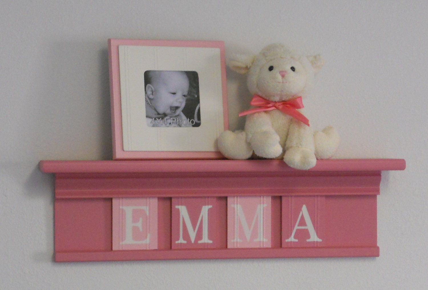 Pink and Brown Baby Girl Nursery Decor by NelsonsGifts on Etsy