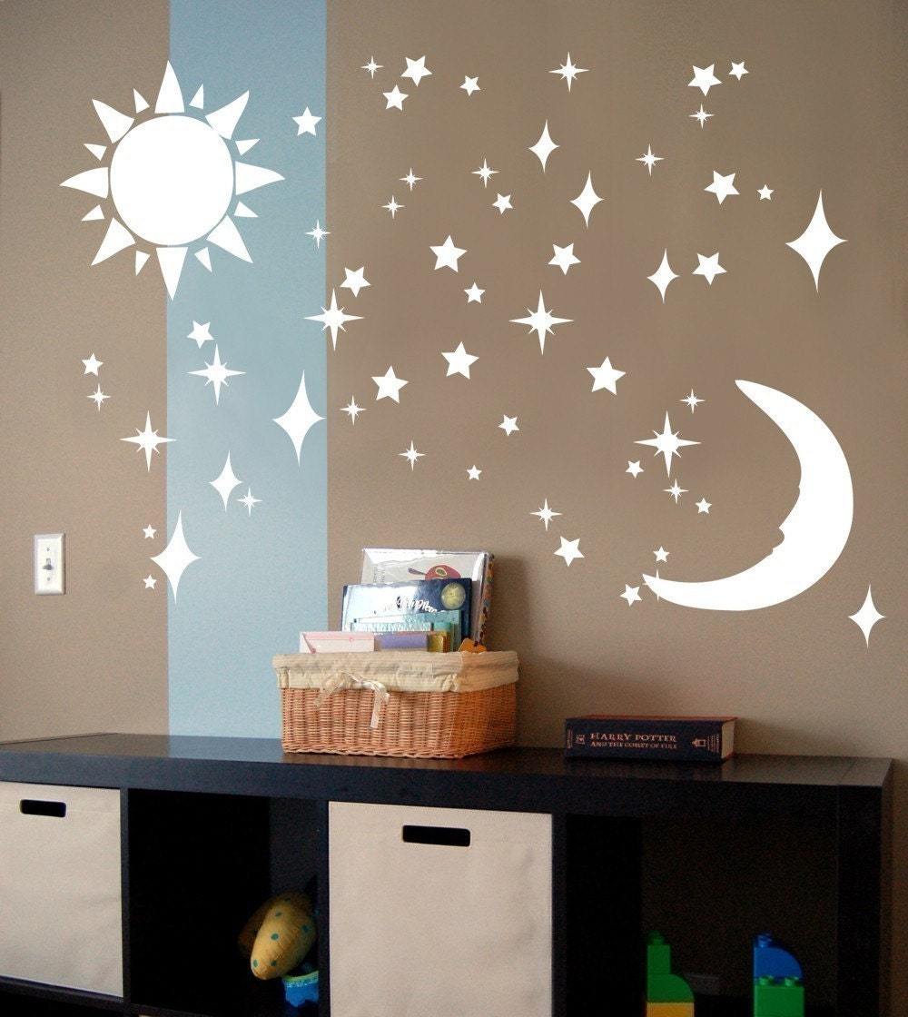 Sun Moon Stars - Vinyl Wall Art Decal Sticker