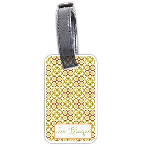 Orange & Green African Inspired Personalized Bag/Luggage Tag