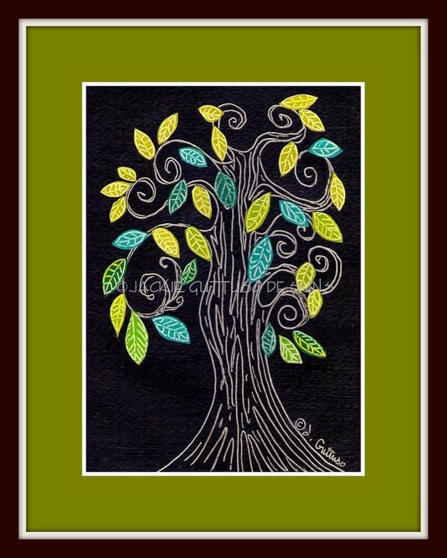 Tree art, Original, Tree nursery art, Forest nursery art, Woodland nursery art, Modern tree art, Modern nursery art