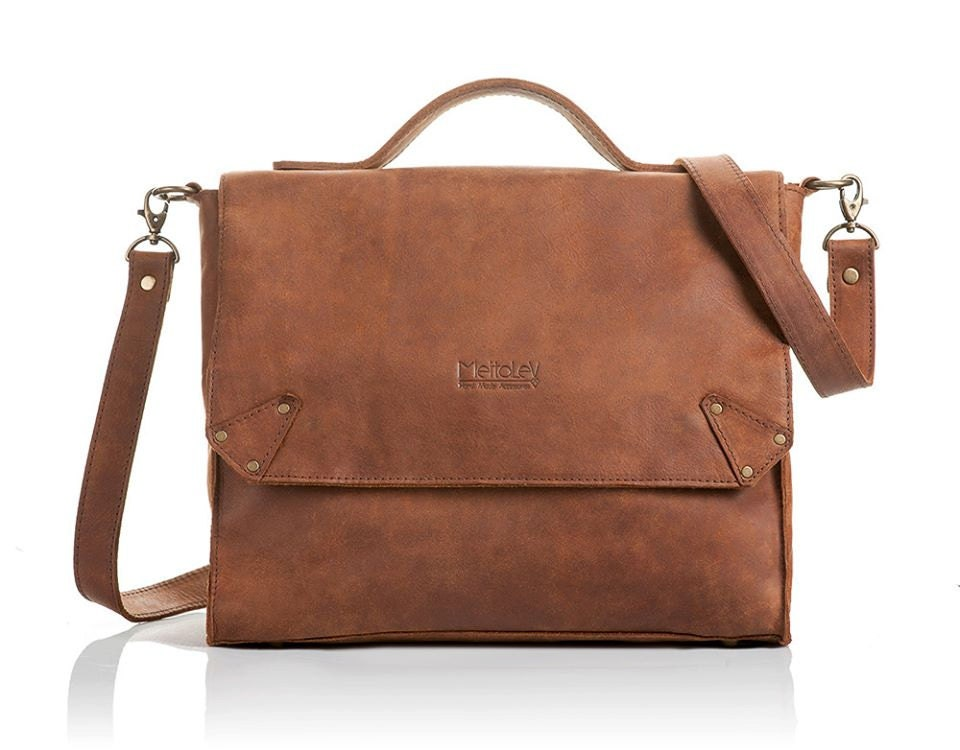 Hand Craft brown Leather Backpack- School-everyday use--Simple and Raw, chic & unique! new collection 2014 - MeitaLev