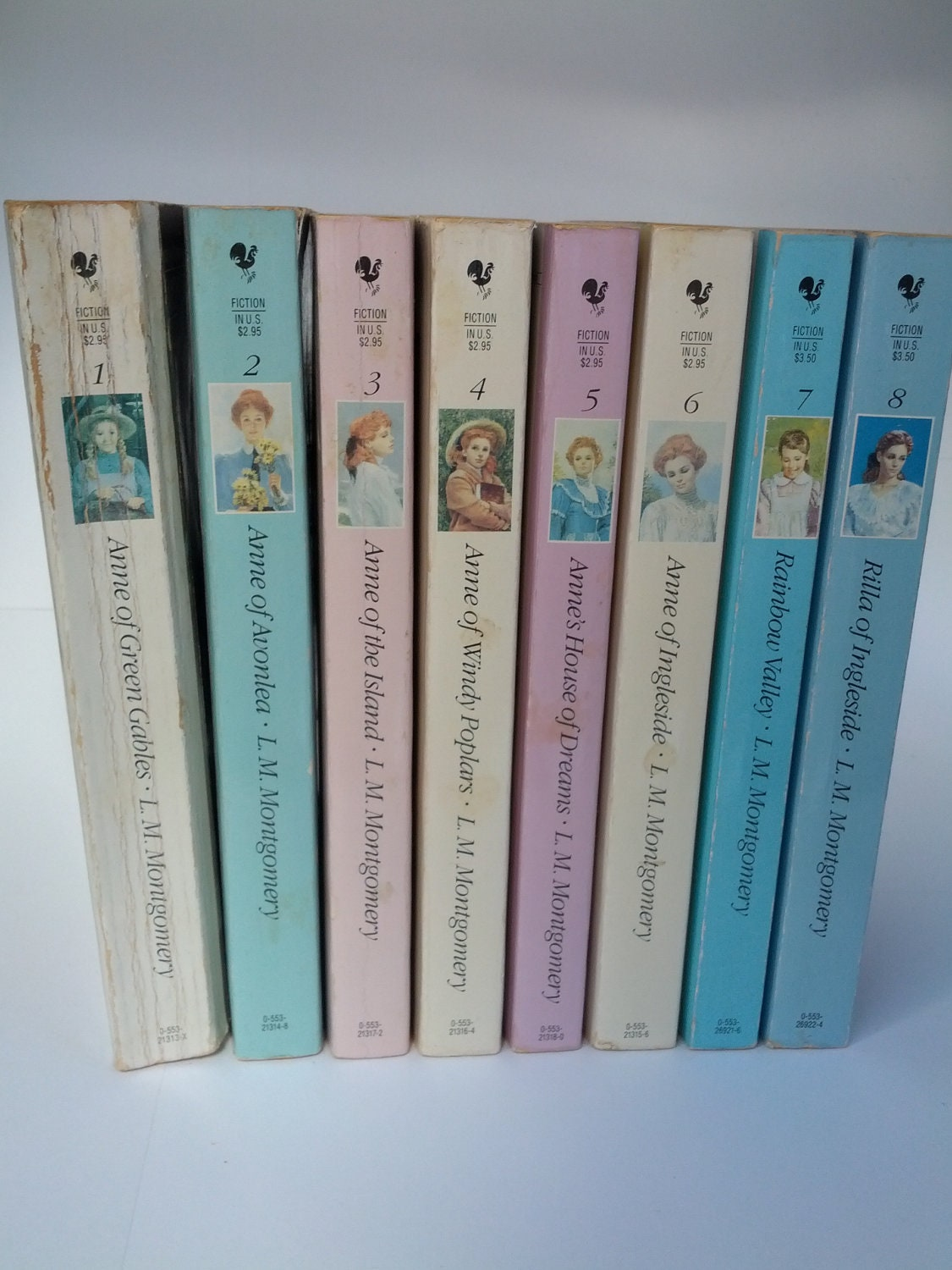 Vintage series of Anne of Green Gables, 1-8