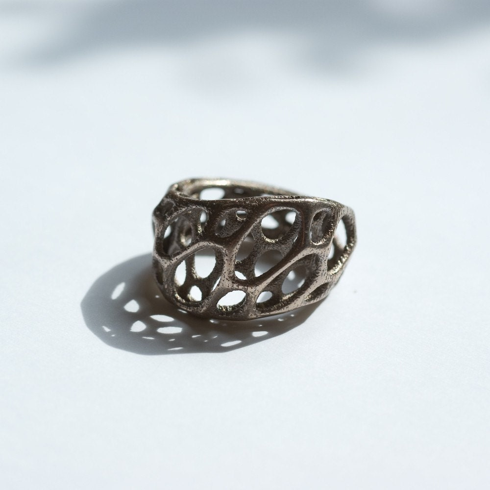2-layer twist ring - 3d-printed stainless steel